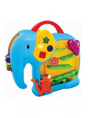 Развивающая игрушка  Занимательный слон Kiddieland. Цвет: синий, желтый