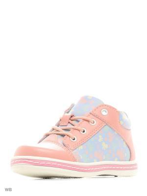 Ботинки Makfly. Цвет: голубой, розовый