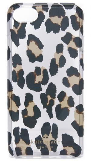 Прозрачный чехол для iPhone 7 с леопардовым принтом Kate Spade New York