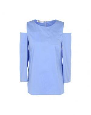 Блузка LA FABRIQUE. Цвет: лазурный