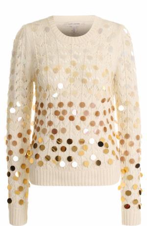 Пуловер с круглым вырезом и пайетками Marc Jacobs. Цвет: бежевый