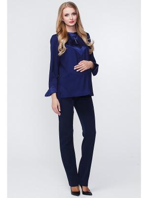 Блуза TUTTA MAMA. Цвет: темно-синий