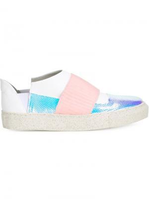 Кроссовки с панельным дизайном Rombaut. Цвет: белый