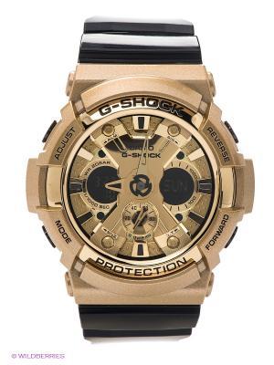 Часы G-SHOCK GA-200GD-9B2 CASIO. Цвет: золотистый, черный