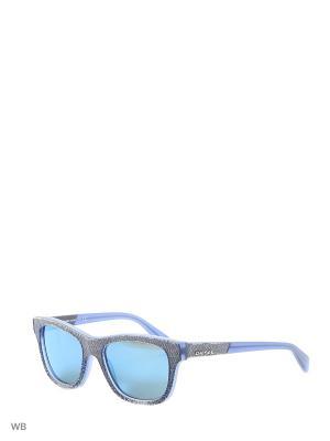 Солнцезащитные очки DL 0111 92X Diesel. Цвет: голубой