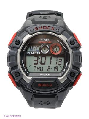 Часы TIMEX. Цвет: черный, красный