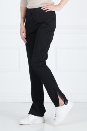 Шерстяные брюки Vera Wang. Цвет: черный