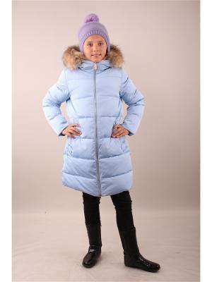 Пальто Fobs. Цвет: голубой