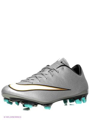 Бутсы MERCURIAL VELOCE II CR FG Nike. Цвет: серебристый, белый
