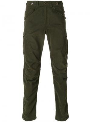 Прямые брюки Maharishi. Цвет: зелёный