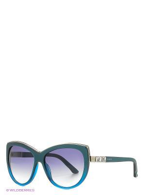 Солнцезащитные очки SK 0091 89W Swarovski. Цвет: бирюзовый