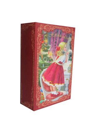 Декоративная шкатулка Девочка с телефоном Magic Time. Цвет: красный