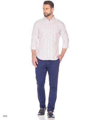 Рубашка MERCEDES-BENZ. Цвет: синий, белый, красный