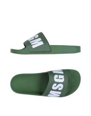 Сандалии MSGM. Цвет: зеленый-милитари