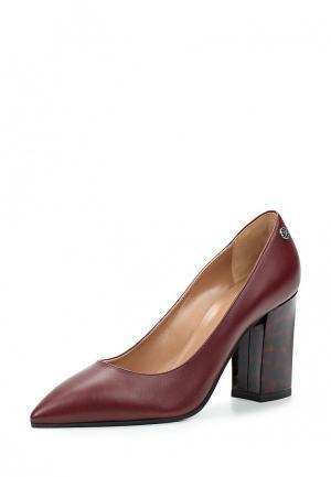 Туфли Pollini. Цвет: бордовый