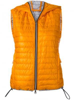 Дутый жилет Filira Duvetica. Цвет: жёлтый и оранжевый