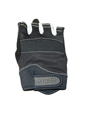 Перчатки для фитнеса STARFIT SU-116,. Цвет: черный, серый