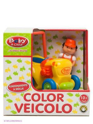 Машинка с водителем Globo. Цвет: желтый, синий, коралловый