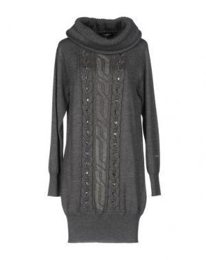 Короткое платье CHIARA D'ESTE. Цвет: серый