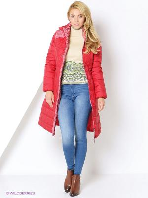 Пальто DizzyWay. Цвет: красный