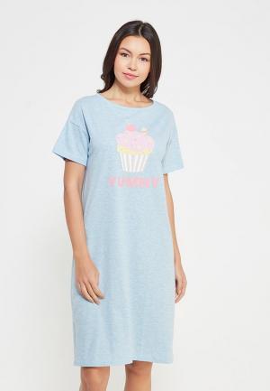 Сорочка ночная Твое. Цвет: голубой