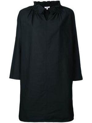 Платье с оборкой на воротнике Atlantique Ascoli. Цвет: чёрный
