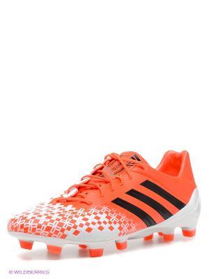 Бутсы Adidas. Цвет: коралловый, белый