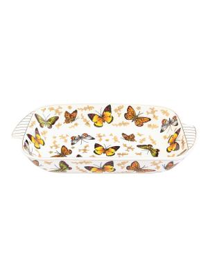 Шубница Бабочки Elan Gallery. Цвет: белый, золотистый