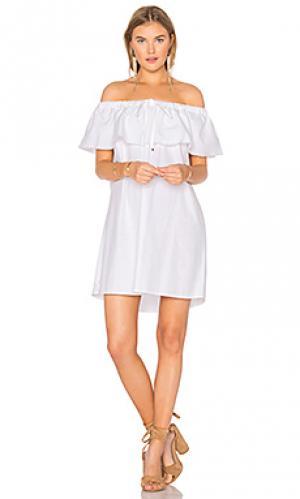 Платье penelope YFB CLOTHING. Цвет: белый