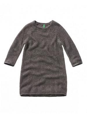 Платье United Colors of Benetton. Цвет: серо-коричневый