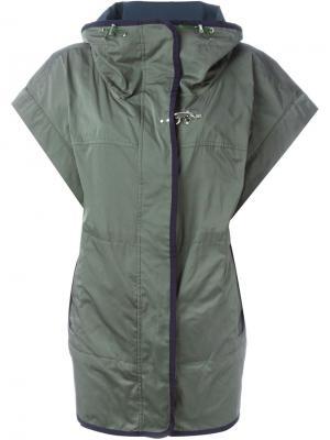 Куртка с короткими рукавами Fay. Цвет: зелёный