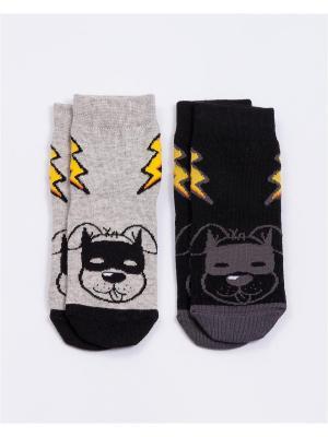 Носки, 2 пары Mark Formelle. Цвет: черный, темно-серый, серый меланж, желтый