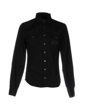 Джинсовая рубашка PHILIPP PLEIN. Цвет: черный