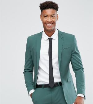 ASOS Зеленый супероблегающий пиджак TALL. Цвет: зеленый
