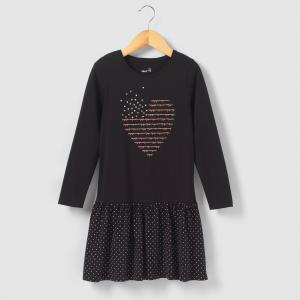 Платье с воланами, 3-12 лет R édition. Цвет: черный