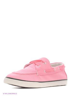 Мокасины 4U. Цвет: розовый, белый