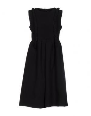 Платье до колена EYEDOLL. Цвет: черный