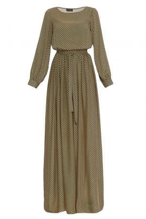Платье из вискозы с поясом 168349 Demurya Collection. Цвет: разноцветный