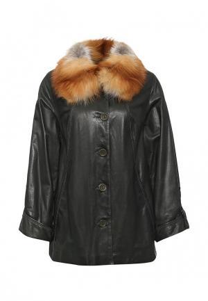 Куртка кожаная Graciana. Цвет: зеленый