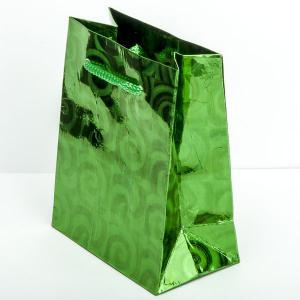 Подарочный пакет арт. УП-117 Бусики-Колечки. Цвет: зеленый
