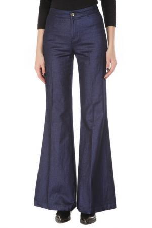 Расклешённые брюки с застежкой на молнию Guess by Marciano. Цвет: синий