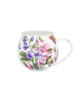 Кружка Душистый горошек Elan Gallery. Цвет: розовый, зеленый, фиолетовый