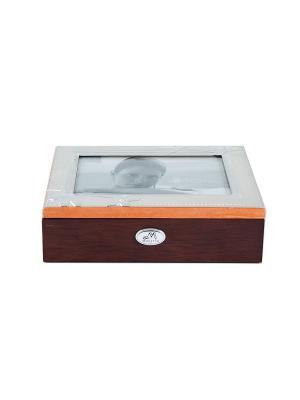 Шкатулка-фоторамка ювелирная MORETTO. Цвет: темно-коричневый, серебристый, терракотовый