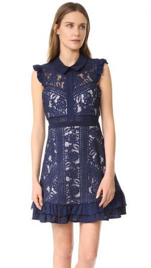 Платье Juniper Three Floor. Цвет: темно-синий/лиловый