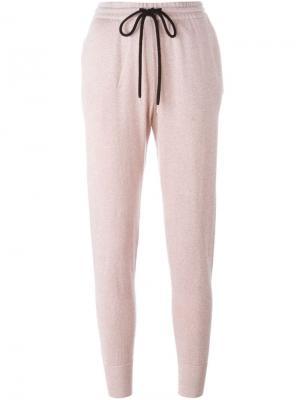 Зауженные к низу спортивные брюки Markus Lupfer. Цвет: розовый и фиолетовый