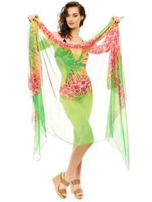 Парео женское Auri. Цвет: зеленый, фуксия