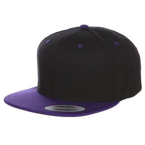Бейсболка  Classic Snapback 2-Tone Black/Purple Flexfit. Цвет: черный,фиолетовый
