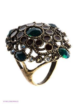 Кольцо Royal Diamond. Цвет: зеленый