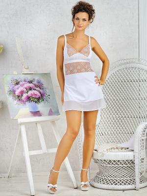 Сорочка Dea Fiori. Цвет: белый