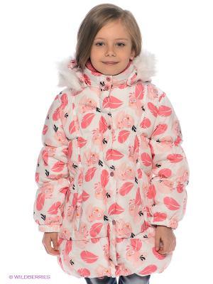 Куртка ANGRY BIRDS. Цвет: белый, бледно-розовый, розовый